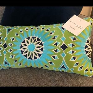 Trina Turk Blue and Green Decorative Pillow